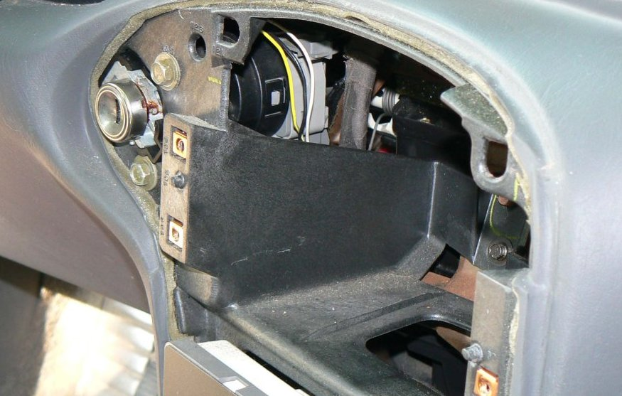 Gm passlock security fix on the left side of the radio cavity there will be an opening through which you will be able to see the ignition switch three thin wires possibly taped aloadofball Choice Image
